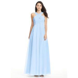Azazie kaleigh bridesmaid dress in sky blue